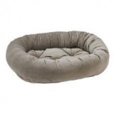 Donut Bed in Pebble Fabric (Medium: 35 x 27 x 8 in.)
