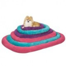 Slumber Pet Bright Terry 35 by 22-Inch Dog Crate Bed Mat, Medium/Large, Purple