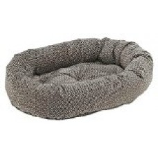 Donut Bed in Khaki Bones Fabric (Large: 42 x 32 x 9 in.)