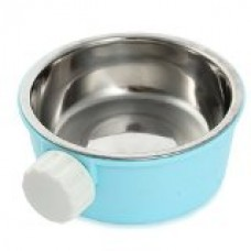 FACILLA® 2in1 Food Feeding Bowl Stainless Steel Plastic for Hamster Pet Chinchillas