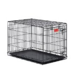 Midwest Life Stages Double-Door Folding Metal Dog Crate, 36 Inches by 24 Inches by 27 Inches