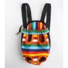 Comfortable Large Size Colorful Stripe Pet Legs Out Adjustable Shoulder Strap Pet Front Carrier/Bag