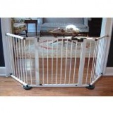Cardinal Versagate Pet Gate, 40-Inch L by 31-Inch H by 3-Inch W, White