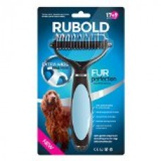 Dematting Tool for Dogs - The Best Dog Grooming Comb for Undercoat Removal - Professional Rake Brush for Small, Medium and Large Breeds with Medium and Long Hair Coats - Rubold Fur Perfection
