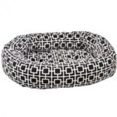 Donut Bed in Courtyard Grey Fabric (X Large: 50 x 36 x 9 in.)