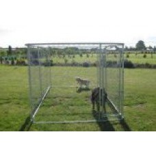 ALEKO® Dog Kennel 13' x 7 1/2' x 6' DIY Box Kennel Chain Link Dog Pet System Run for Chicken Coop Hens House