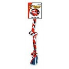 Flossy Chews Cottonblend Color 3-Knot Rope Tug, Large, 25-Inch