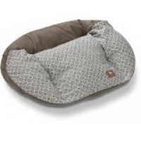 West Paw Design Hemp Tuckered Out Small 23 by 18-Inch Dog Stuffed Bed, Timber