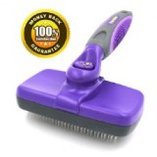 #1 Best Quality Self Cleaning Slicker Brush - Gently Removes Loose Undercoat, Mats and Tangled Hair - Your Dog or Cat Will Love Being Brushed with the Hertzko Grooming Brush - 100% Satisfaction and Money Back Guarantee !