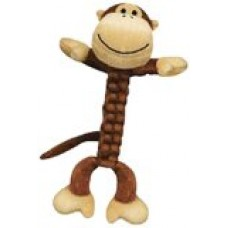 KONG BraidZ Monkey Dog Toy, Small
