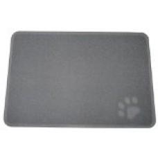 FeschDesign 35 x 24 - Inch Cat Litter Catcher Mat, Non-Toxic, Large, Dark Grey + Pet Obedience Training e-Book