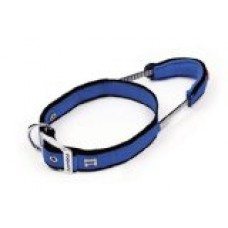 Bamboo Quick Control Collar with Built-In Leash Medium, Blue