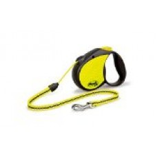 Flexi 16-Feet Neon Reflect Retractable Cord Dog Leash, Medium, Black/Neon Yellow