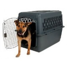 Aspenpet Pet Porter Kennel For Pets 50-70 Pounds,  Dark Gray
