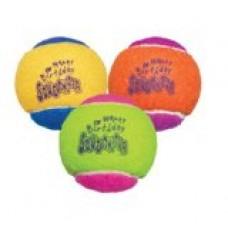 KONG Air Dog Squeakair Birthday Balls Dog Toy, Medium, Colors Vary (3 Balls)