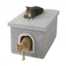 Enclosure Cat Litter Box Color: Gray