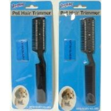 2 Pack Manual Pet Hair Trimmer with Extra Blades and Comb Grooming Dog Cat Razor