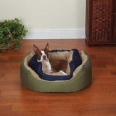 Slumber Pet Cozy Clamshell Pet Bed, Small, Sage